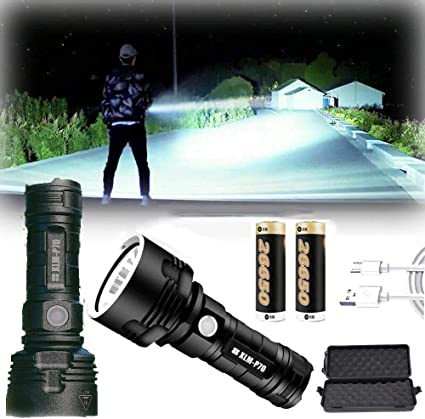 100000 Lumen High Power LED Flash Light Waterproof Upgrade 3 Lighting modes