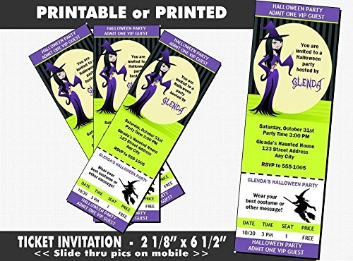 The Good Witch Halloween Party Ticket Invitation, Printable or Printed Option -
