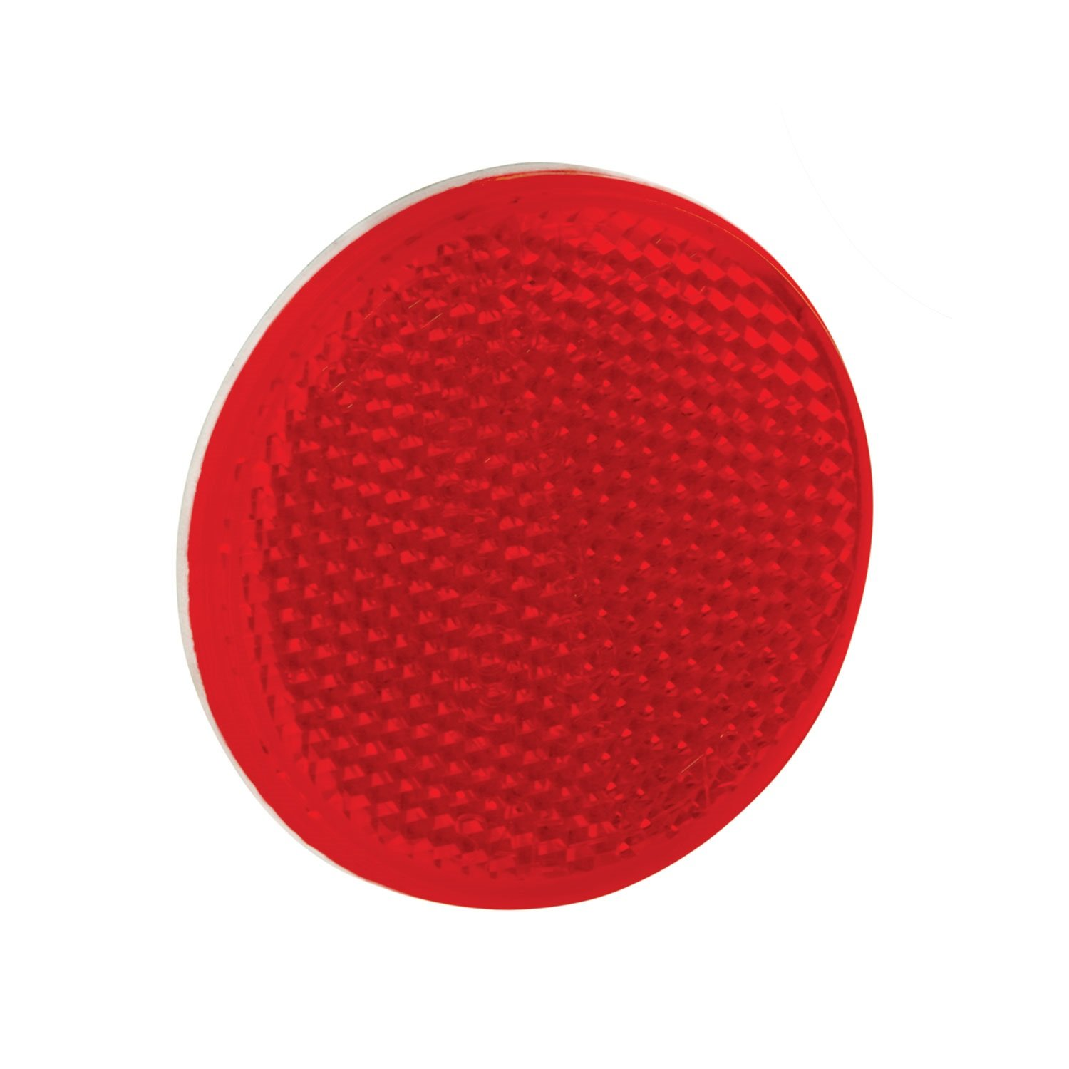 2-3//16 Bargman 70-55-010 Reflector with Adhesive Mount Round Red 2-3//16