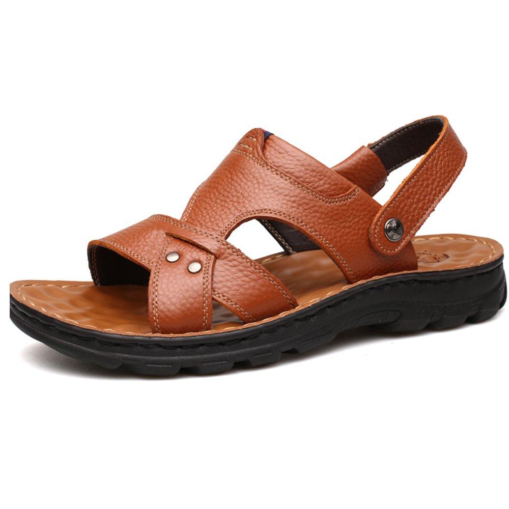 CHUNLAN sunhat Sandalen Männer neue Sommer Strand Schuhe koreanische Soft Bottom Freizeit Massage Slip Slipper ( Farbe : B   größe : EU40/UK7/CN41 ) A