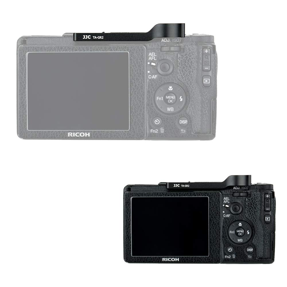 JJC Metal Thumbs Up Grip for Ricoh GR III GRIII GR3 with Hot Shoe Cover Protector Made of Aluminum Alloy Not Interfere with Controls of Camera