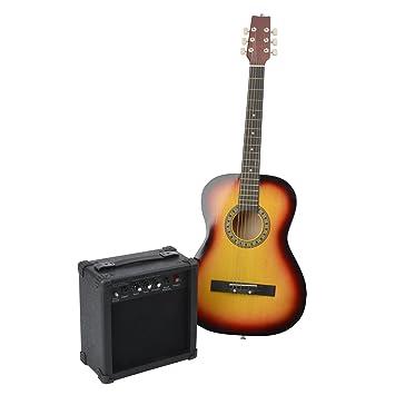 Weinberger Guitarra acústica Incluye amplificador Guitarra clásica de nailon/acero Cuerdas mecanismo niquelado