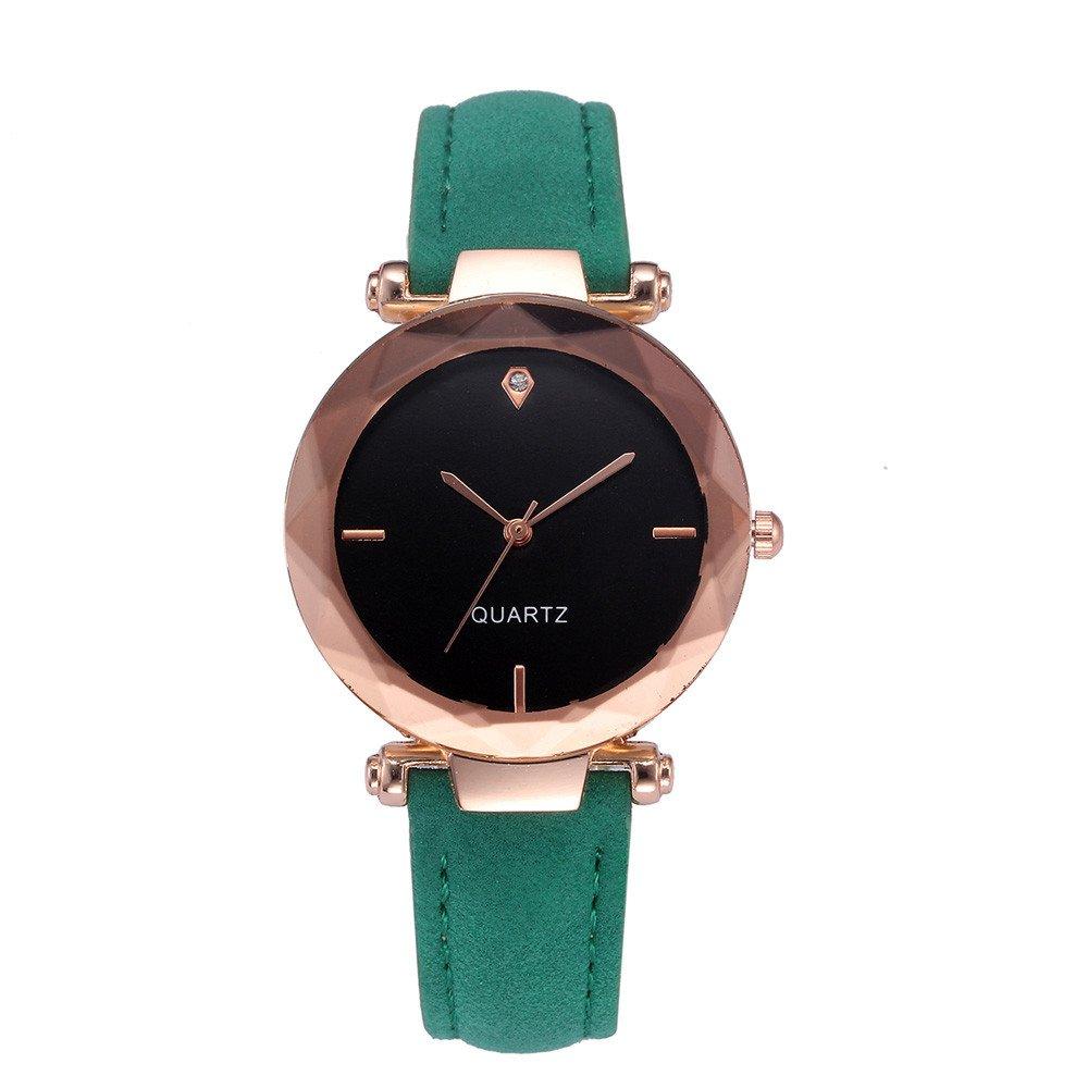 Womens Watches On Sale, VANSOON Fashion Women Leather Casual Watch Luxury Analog Quartz Crystal Wristwatch Teen Girls Dress Watches Birthday Gifts Bracelet Watch Clearance