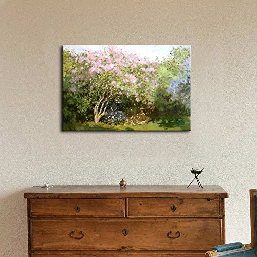 Lilacs in The Sun by Claude Monet Print Famous Oil Painting Reproduction