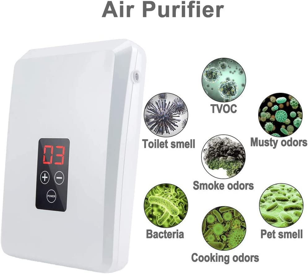 Room Office TUANSING Multi-Purpose Ozone Generator Fruit /& Vegetable Washer Air Sterilizing Portable Ozone Machine for Kitchen Bathroom