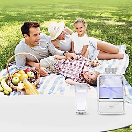 Gosoit Water Ionizer Hydrogen Alkaline Water Bottle,Hydrogen Water Generator Maker Machine ,Rechargeable Water Bottle Filter Purifier for Anti-aging ,Boost Immunity,BPA-free, White by GOSOIT (Image #5)