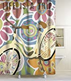 Lisa Weedn Life Is A Trip Fabric Shower Curtain, Multi-Colored, 70-Inch X 72-Inch