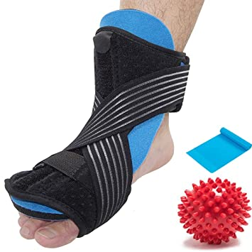 a37cc5bcca8fe Plantar Fasciitis Night Splint Sleep Support for Heel Pain Relief, Foot  Drop Orthotic Brace for Sleep Support...