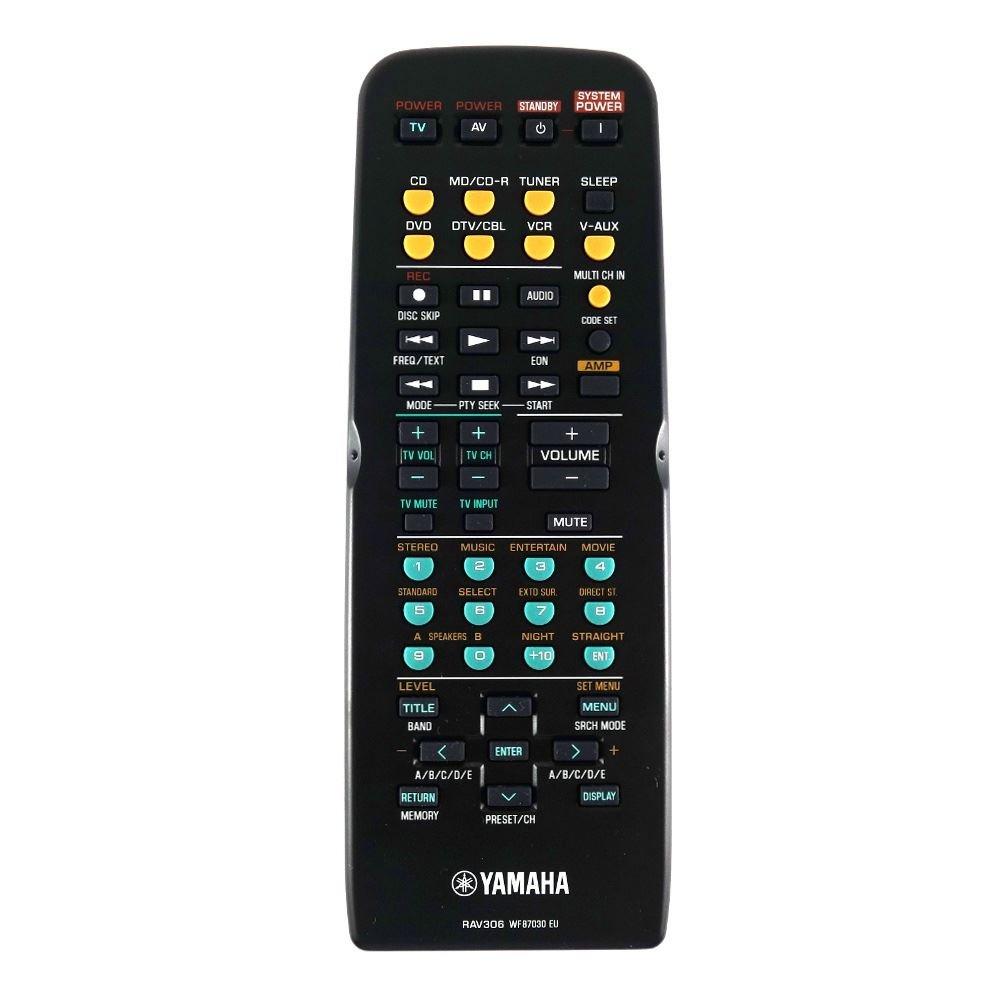 Genuine Yamaha RAV306 WF87030 EU DVD Player Remote: Amazon co uk