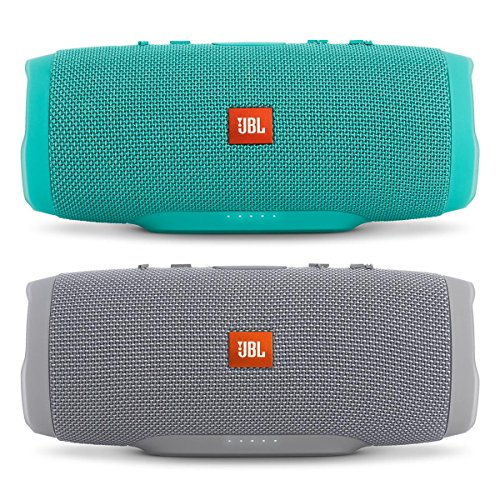 jbl-charge-3-waterproof-portable-bluetooth-speaker-pair-gray-teal