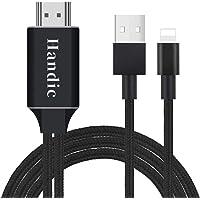 【Handic令和2020最新版】Lightning HDMI iphone HDMI変換 ケーブル iPhon/iPad/iPodをテレビ出力 ライトニング HDMI接続 アダプター 最新iOS13対応