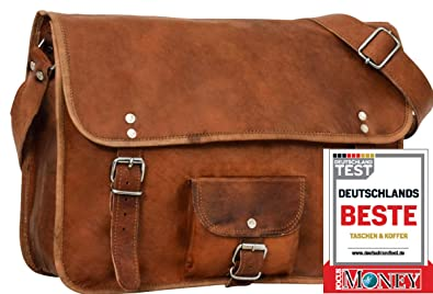 "326f77f687 Gusti Cuir nature ""Alex 11"" cartable en cuir sac notebook sac bandoulière  sac porté"