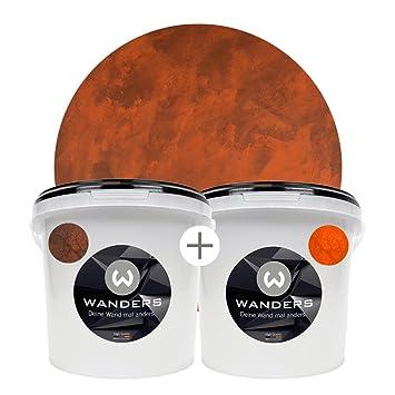 Wanders24 Rost Optik 6 Liter Komplettset Wandfarben Für Rost