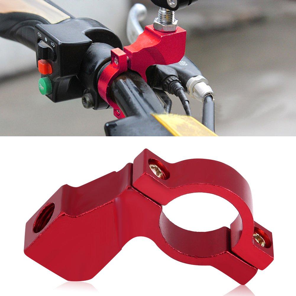 10mm moto specchietto retrovisore staffa manubrio supporto specchio adattatore titolare morsetto 5 colori Red