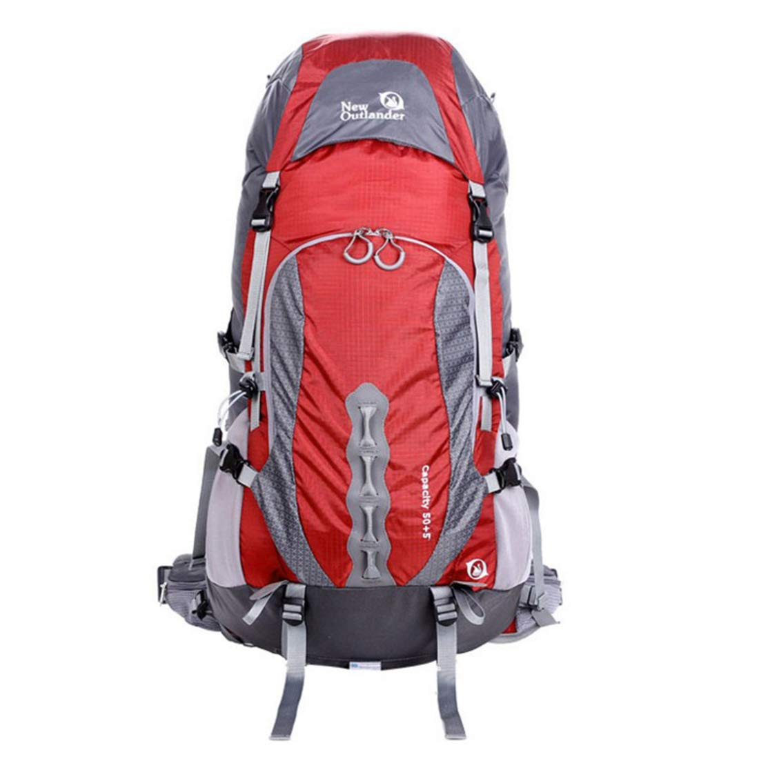 CeSuoLBD 屋外スポーツ大容量防水登山バッグ (Color : レッド)  レッド B07NP994SY