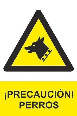 MovilCom® - Adhesivo PELIGRO CUIDADO CON EL PERRO 100x150mm homologado nueva legislación (ref.RD36643)