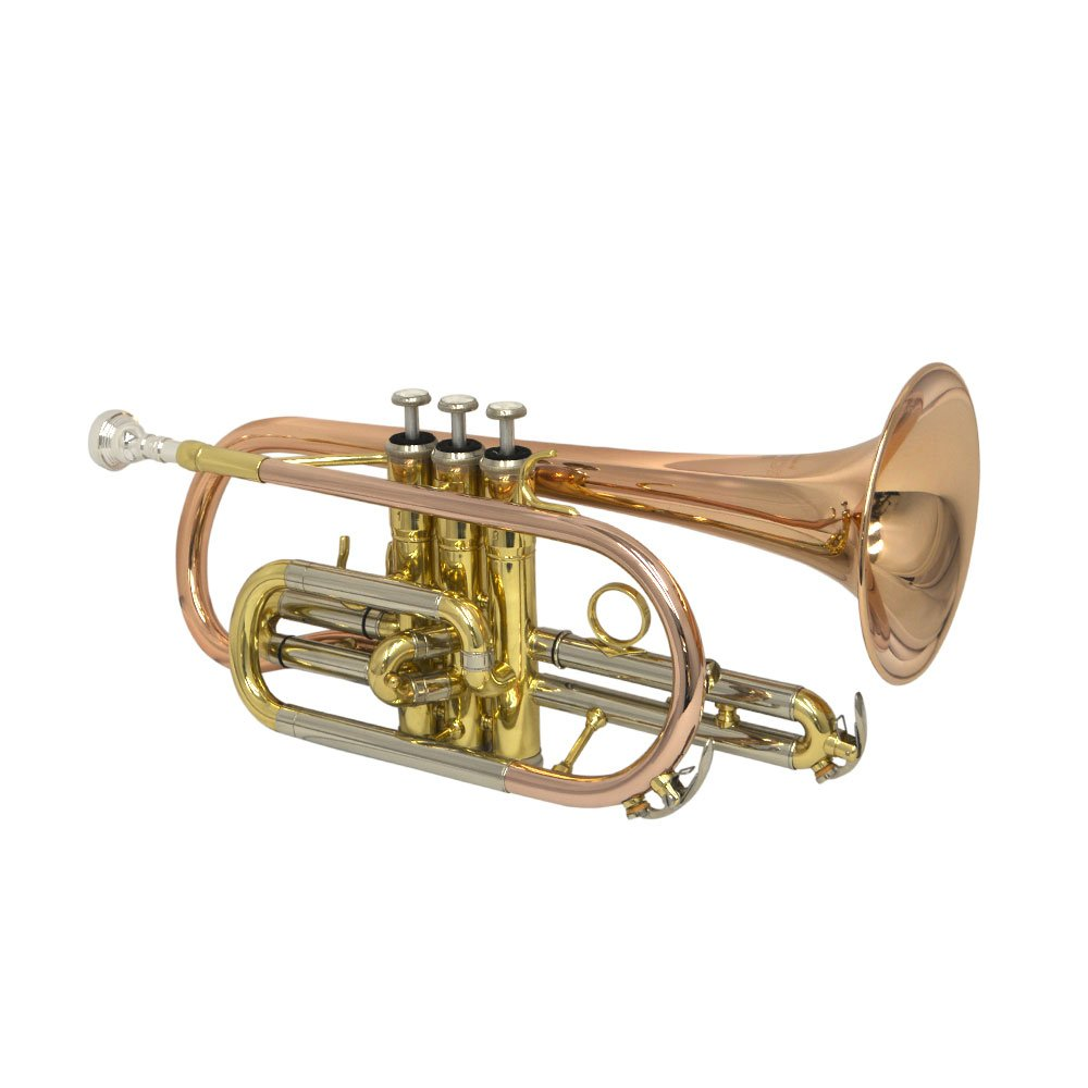 Sheperds Crook Cornet with Trigger - Rose Brass