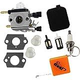 HURI Carburetor with Gasket Air Filter Spark Plug for Stihl BG45 BG46 BG55 BG65 BG85 SH55 Blower
