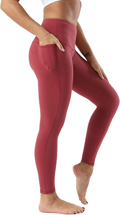 CAROVIA Womens Workout Leggings with Pocket High Waisted Yoga Pants Tummy Control Squat Proof Full Length