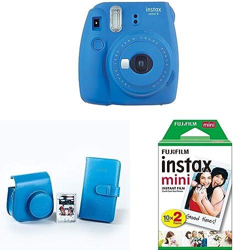 Fujifilm Instax Mini 9 - Cámara instantánea, Azul Marino + Kit de ...