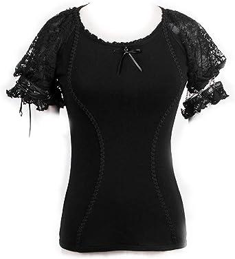 Pyon Pyon - Camisa de Manga Corta y Manga Corta, diseño gótico Negro XL: Amazon.es: Ropa y accesorios