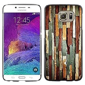 Be Good Phone Accessory // Dura Cáscara cubierta Protectora Caso Carcasa Funda de Protección para Samsung Galaxy S6 SM-G920 // Stone Iron Pattern Geology Lines