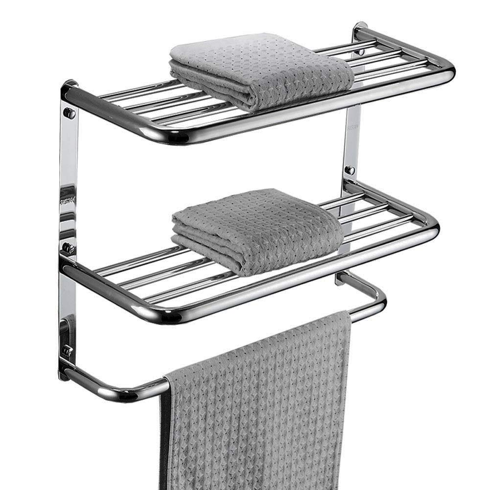 LUANT Bathroom Shelf 3-Tier Wall Mounting Rack with Towel Bars