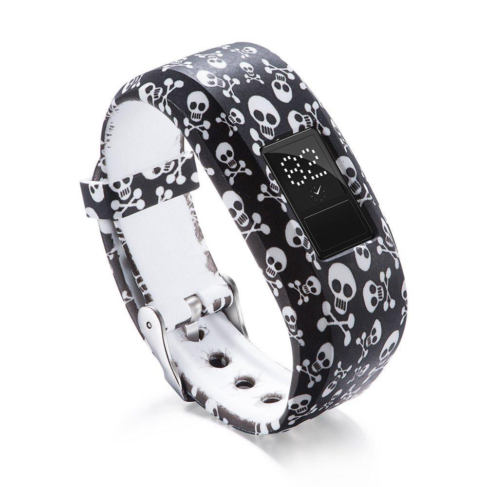 Garmin Vivofit 3 Bands,Lovewe Soft Silicone Replacement Strap Accessory Flower Printing Wristbands For Garmin Vivofit 3 (E)