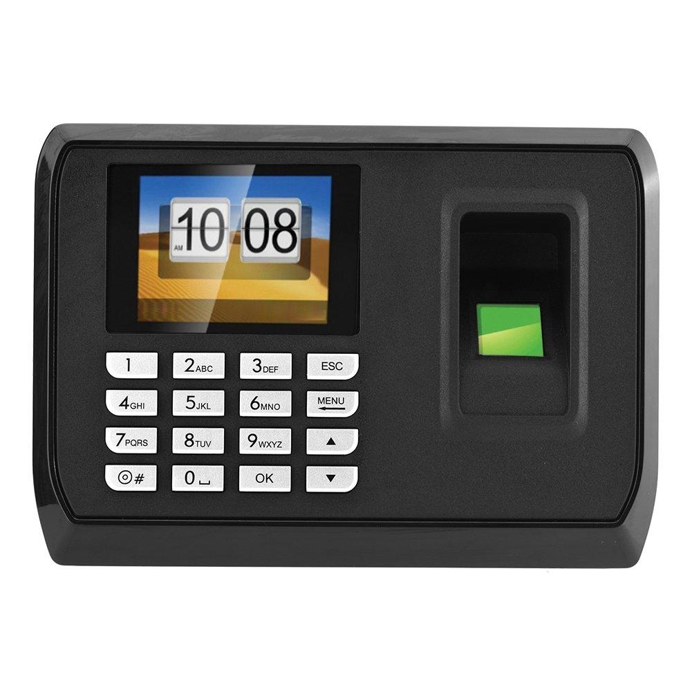 Yosoo- 1.8'' TFT Office USB Drive Attendance Machine, Intelligent Biometric Energy-Saving Fingerprint Sensor Employee Checking-in Recorder Access Control System (US)