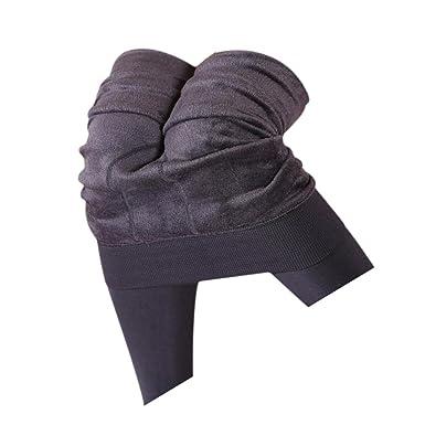 6da504e226d103 Koly Women's Winter Thick Warm Fleece Lined Thermal Stretchy Leggings Pants,  Gray, Length: