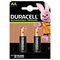 [LD] Duracell Rechargeable AA 1300mAh Batteries, Pack of 2