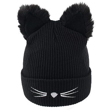 1af62001592 Richoose Fashion Women s Winter Wool Cute Cat Ears Knit Beanie Hats ...