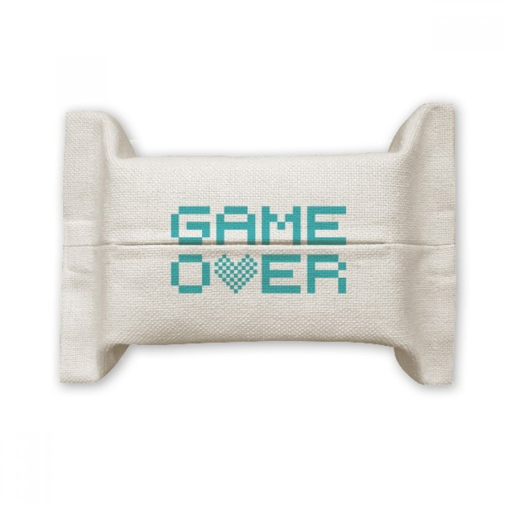 DIYthinker Blue Game Over Pixel Cotton Linen Tissue Paper Cover Holder Storage Container Gift