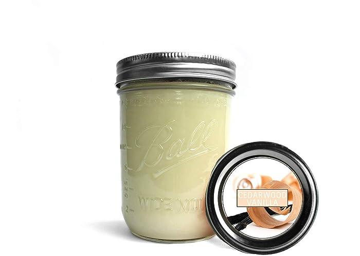 Amazoncom Cedarwood Vanilla Soy Wax Candlesmason Jar Candle