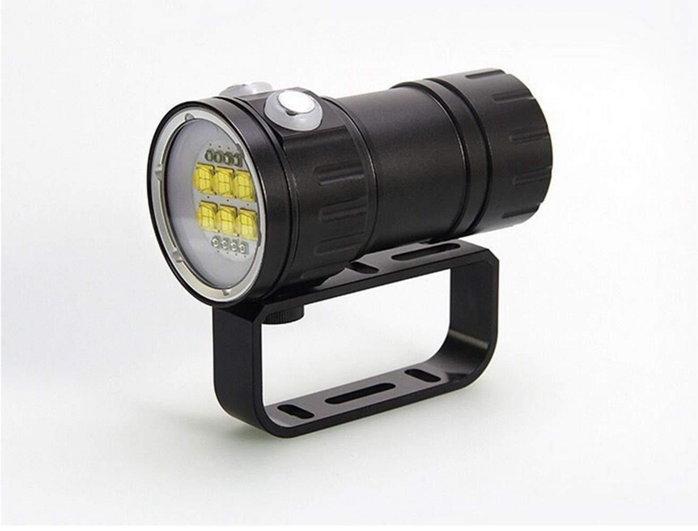 WANGYONGQI Tauchen Taschenlampe, 300W professionelles fotografisches Fülllicht, rot-blaues Licht High Power unter Wasser 80 Meter IPX8