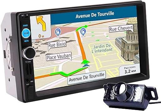 2019 Autoradio 2 DIN Radio de Coche GPS cámara del Jugador Mapa 7 Innch estéreo Bluetooth HD MP5 Car Audio Auto Electrónico Radio: Amazon.es: Electrónica