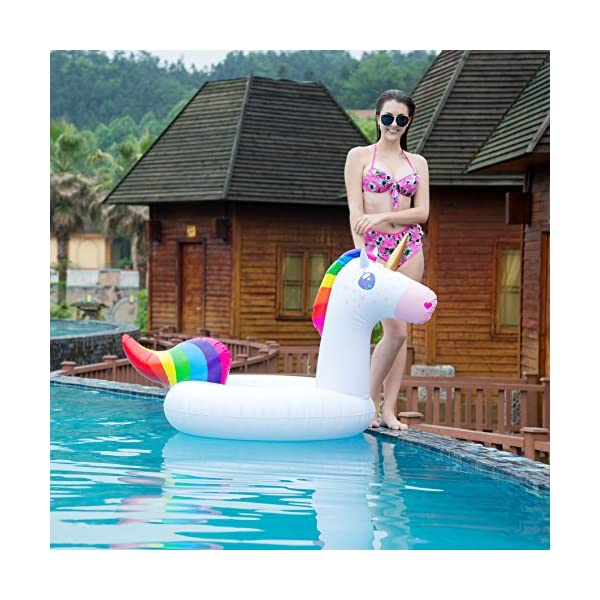 JOYIN Gorgeous Inflatable Unicorn Tube, Pool Float, Fun Beach Floaties, Swim Party Toys, Summer Pool Raft Lounge for… 8