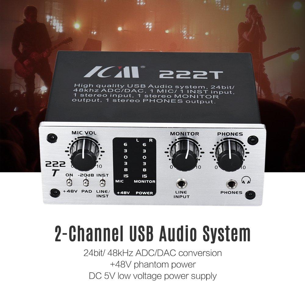 Amazon.com: Ammoon 222t 2 canales USB interfaz de sistema de ...