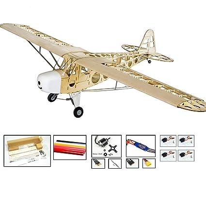 Amazon com: EP&GP RC Balsa Wood Model Airplane Kits- 1 8M Piper Cub