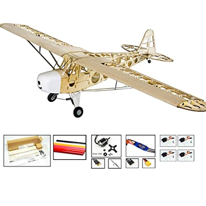 Amazon com: EP&GP RC Balsa Wood Model Airplane Kits- 1 8M