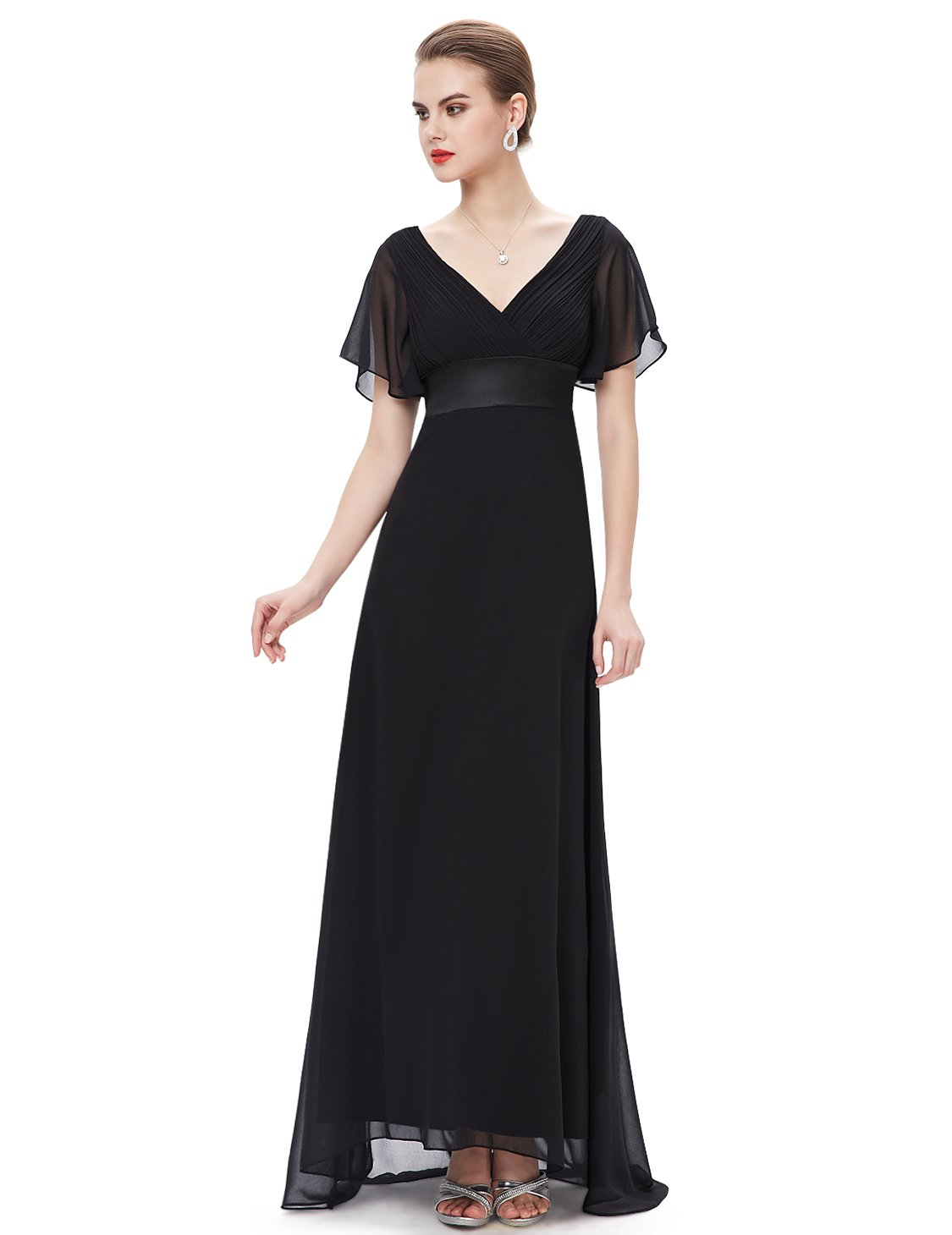 Ever-Pretty Women's Short Sleeve V-Neck Long Evening Dress ... - photo#47