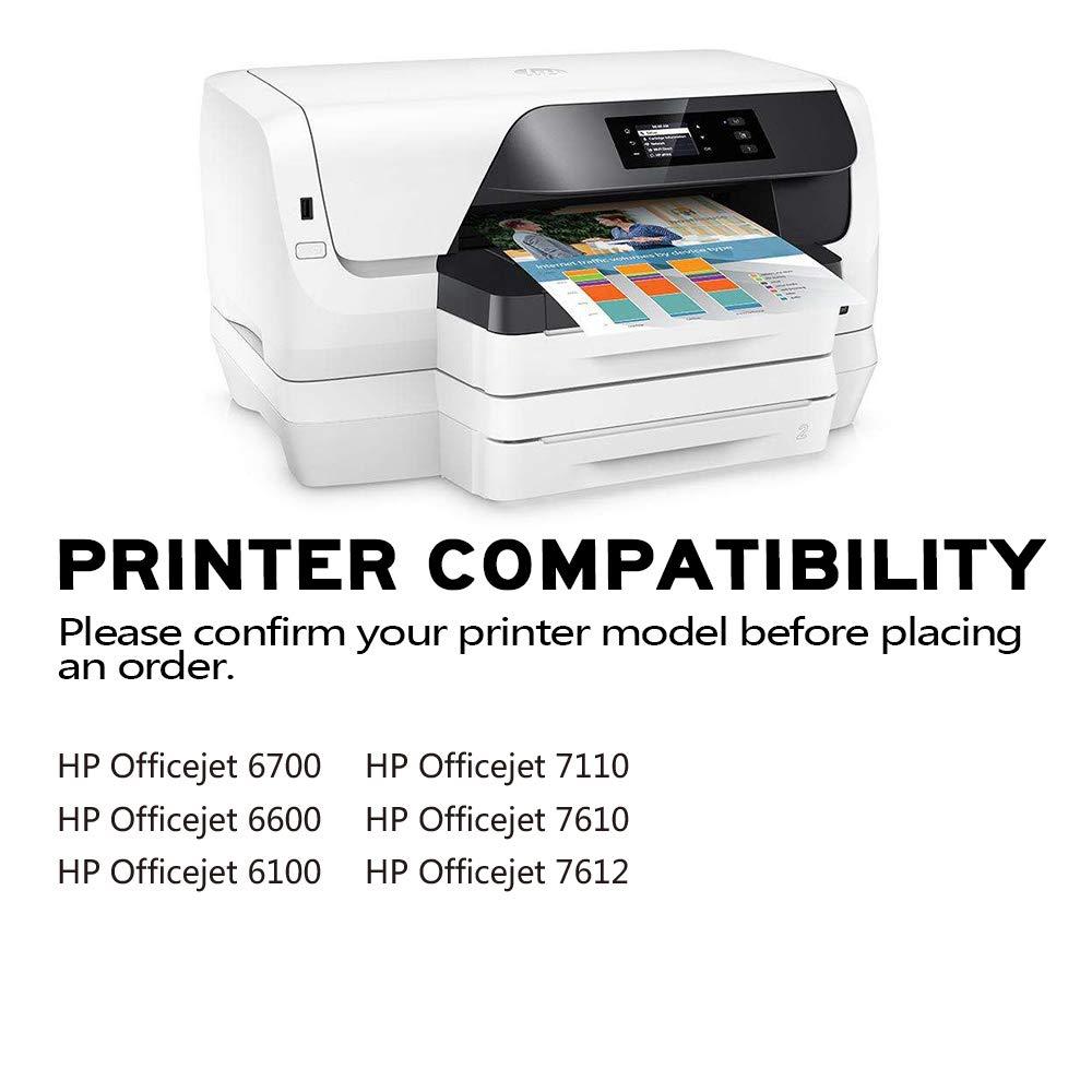 YUUSHA 932XL 933XL Pack de 5 Cartucho de Tinta Compatible HP ...
