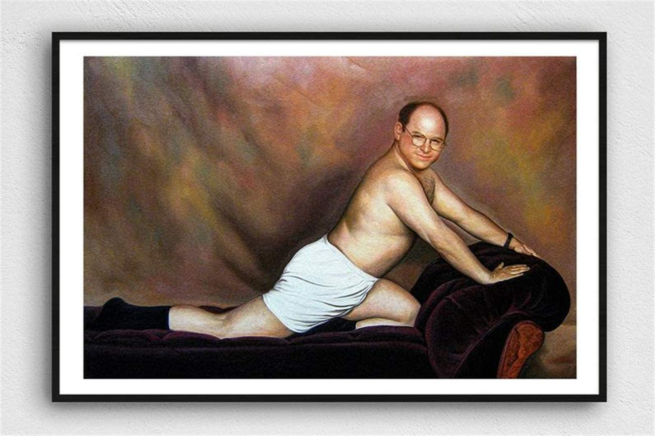 NATVVA Wall Decoration Painting George Costanza Seinfeld Wall Art Poster Wall Decor Prints Painting Picture Artwork Home Decoration for Living Room Bedroom No Frame