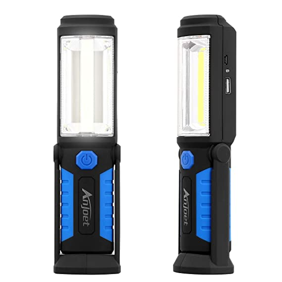1200LM COB LED Magnetic END Black Work Light Inspection Flashlight Lamp Torch UK