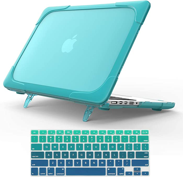 """For Macbook Pro 15 Retina Case,StrongCase [Heavy Duty][Dual Layer] Hard Case Cover with Plastic Bumper for Apple Macbook Pro 15.4"""" with Retina Display (Compatible with A1398 2012-2015 Release) - Blue"""