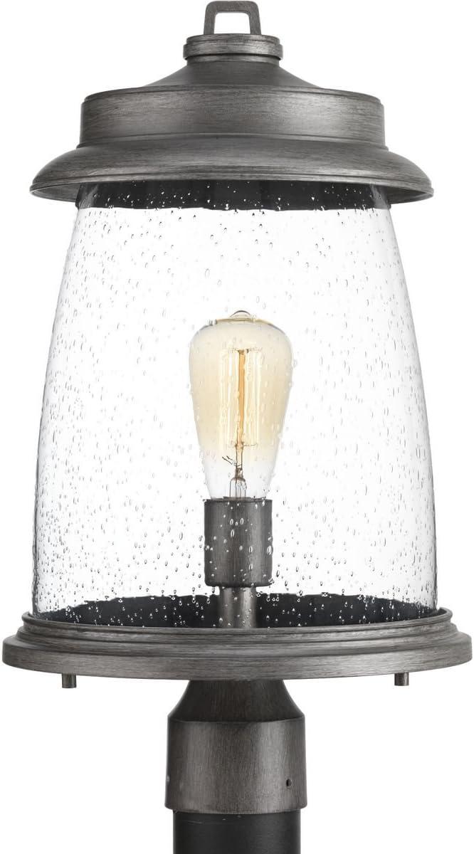 Progress Lighting P540030-103 Conover Post Lantern, Antique Pewter