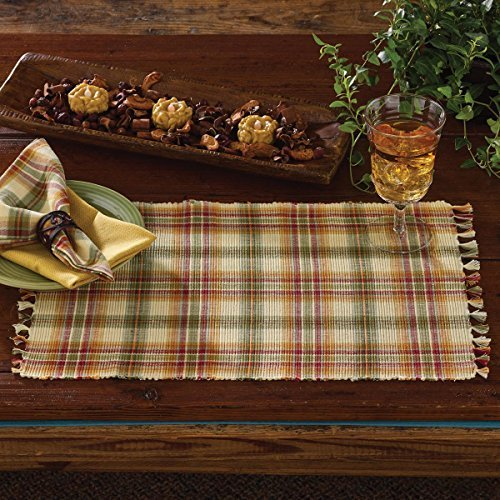Park Designs Lemon Pepper Placemat - Set of 6,Green, Salmon, Mustard, Tan,13