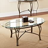Steve Silver Madrid Oval Glass Top Coffee Table