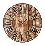Deco 79 69211 Round Metal Wood Clock, 24-Inch (Kitchen)