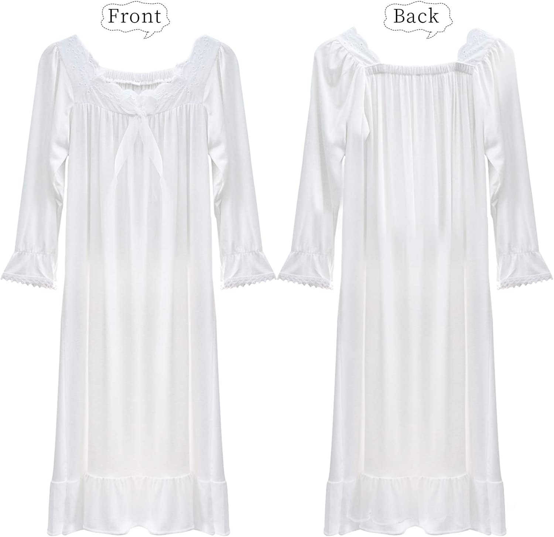 KISSI Nightgown for Girls Baby Dress//Pajamas Shar Cartoon Print Princess Toddler Sundress Sleep//Home Wearing 2-7Yrs